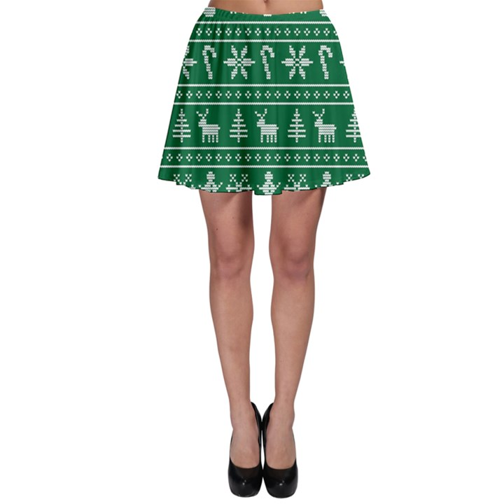 Ugly Christmas Skater Skirt