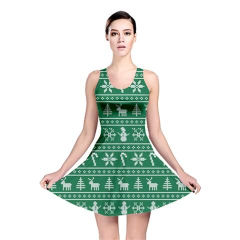 Ugly Christmas Reversible Skater Dress