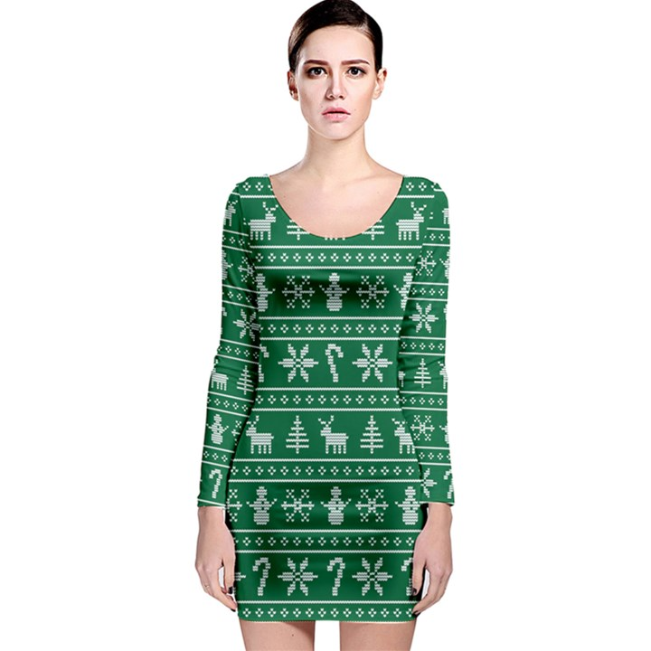 Ugly Christmas Long Sleeve Bodycon Dress