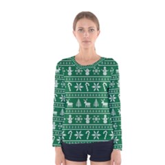 Ugly Christmas Women s Long Sleeve Tee