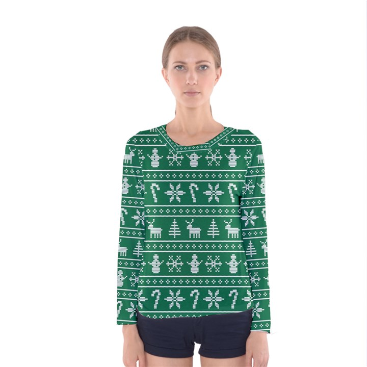 Ugly Christmas Women s Long Sleeve Tee