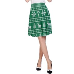 Ugly Christmas A Line Skirt