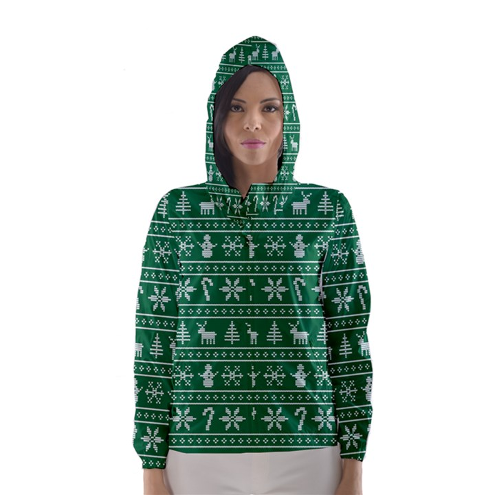 Ugly Christmas Hooded Wind Breaker (Women)