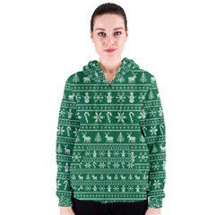Ugly Christmas Women s Zipper Hoodie