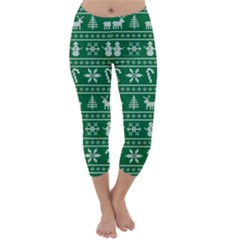 Ugly Christmas Capri Winter Leggings