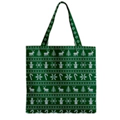 Ugly Christmas Zipper Grocery Tote Bag