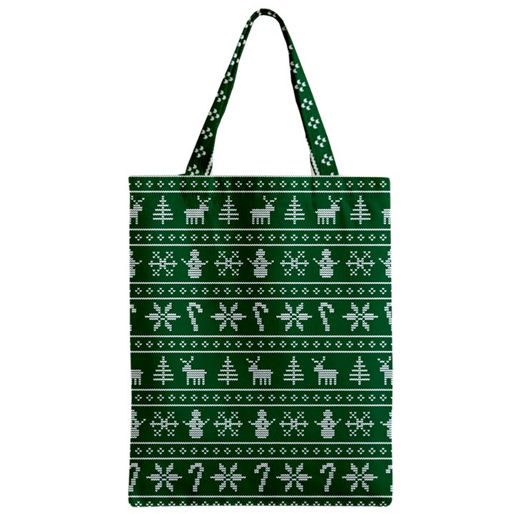 Ugly Christmas Zipper Classic Tote Bag