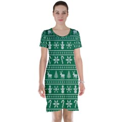 Ugly Christmas Short Sleeve Nightdress