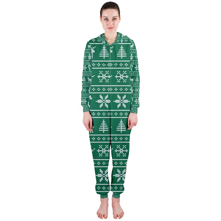 Ugly Christmas Hooded Jumpsuit (Ladies)