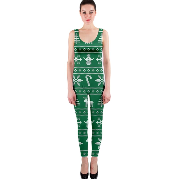 Ugly Christmas OnePiece Catsuit