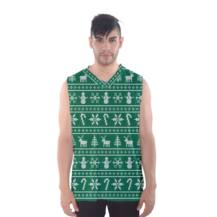 Ugly Christmas Men s Basketball Tank Top