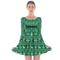 Ugly Christmas Long Sleeve Skater Dress
