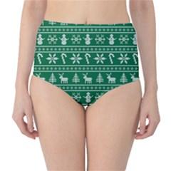 Ugly Christmas High Waist Bikini Bottoms