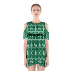Ugly Christmas Cutout Shoulder Dress