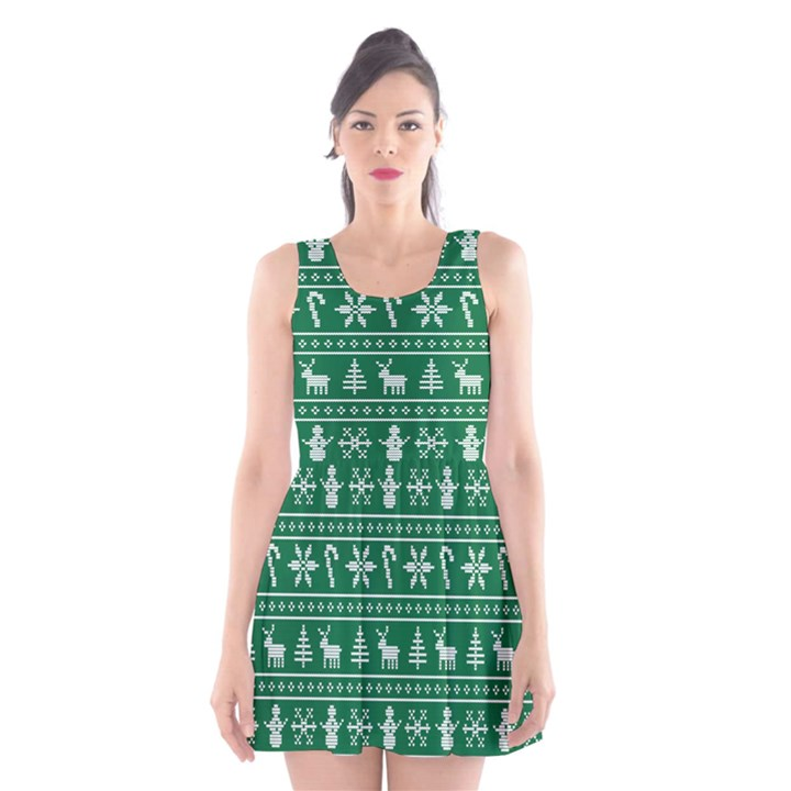 Ugly Christmas Scoop Neck Skater Dress