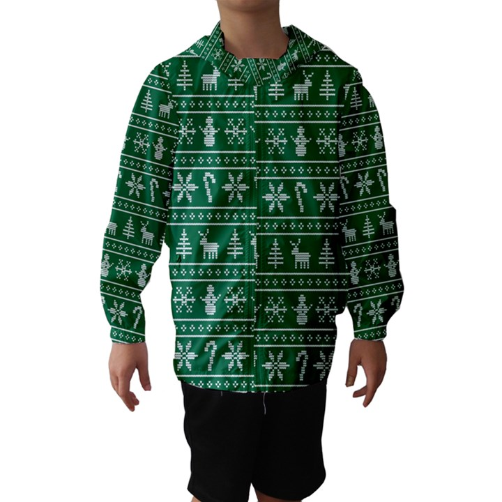 Ugly Christmas Hooded Wind Breaker (Kids)