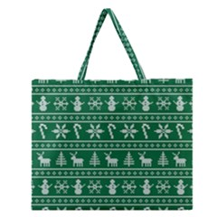 Ugly Christmas Zipper Large Tote Bag