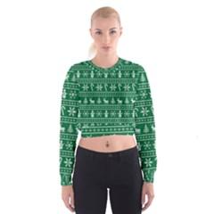 Ugly Christmas Women s Cropped Sweatshirt