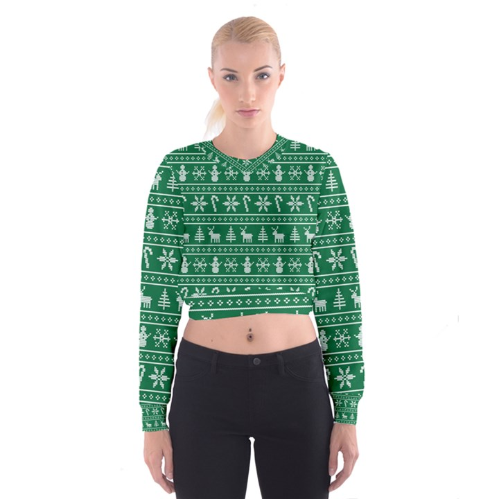 Ugly Christmas Women s Cropped Sweatshirt
