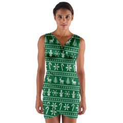 Ugly Christmas Wrap Front Bodycon Dress