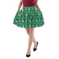 Ugly Christmas A-Line Pocket Skirt