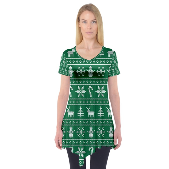 Ugly Christmas Short Sleeve Tunic