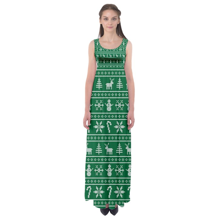 Ugly Christmas Empire Waist Maxi Dress