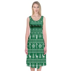 Ugly Christmas Midi Sleeveless Dress