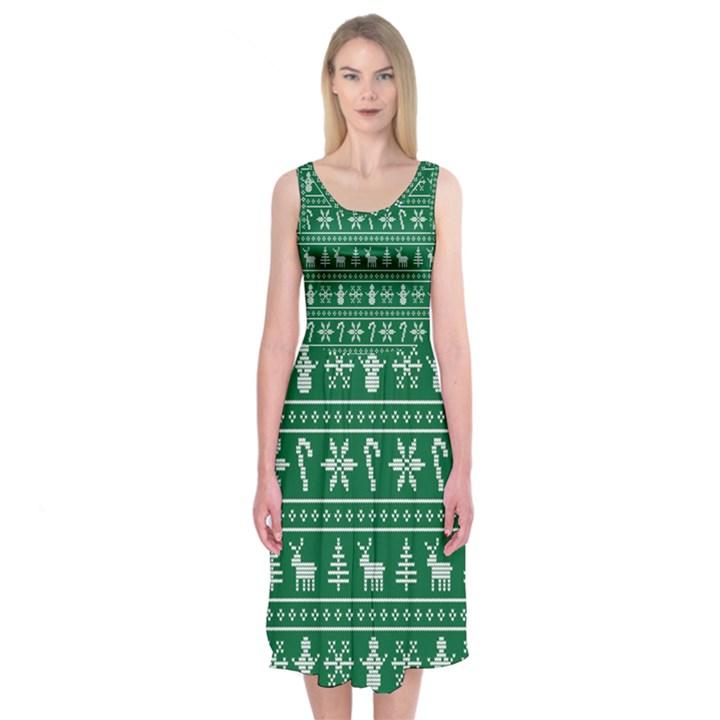 Ugly Christmas Midi Sleeveless Dress