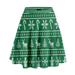 Ugly Christmas High Waist Skirt