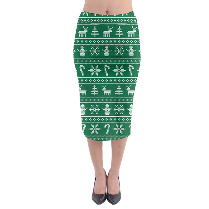 Ugly Christmas Midi Pencil Skirt