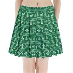 Ugly Christmas Pleated Mini Skirt