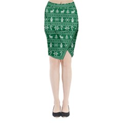 Ugly Christmas Midi Wrap Pencil Skirt