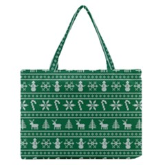 Ugly Christmas Medium Zipper Tote Bag