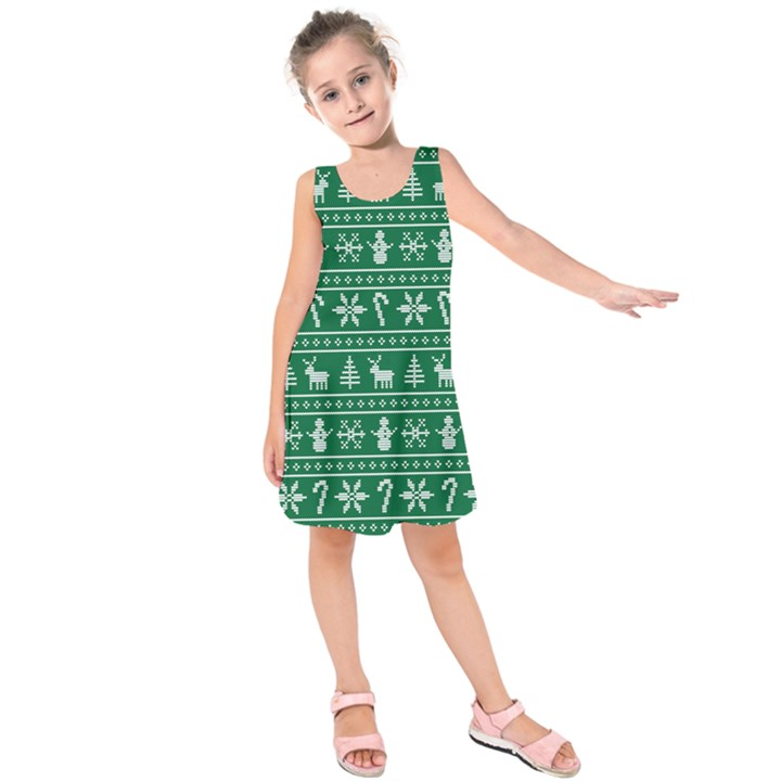 Ugly Christmas Kids  Sleeveless Dress