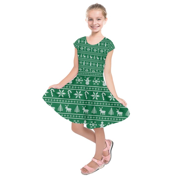 Ugly Christmas Kids  Short Sleeve Dress