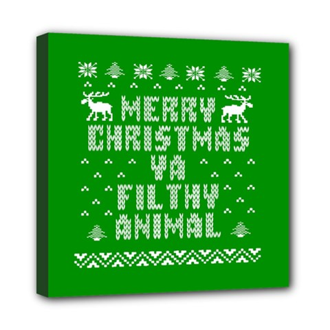 Ugly Christmas Ya Filthy Animal Mini Canvas 8  X 8