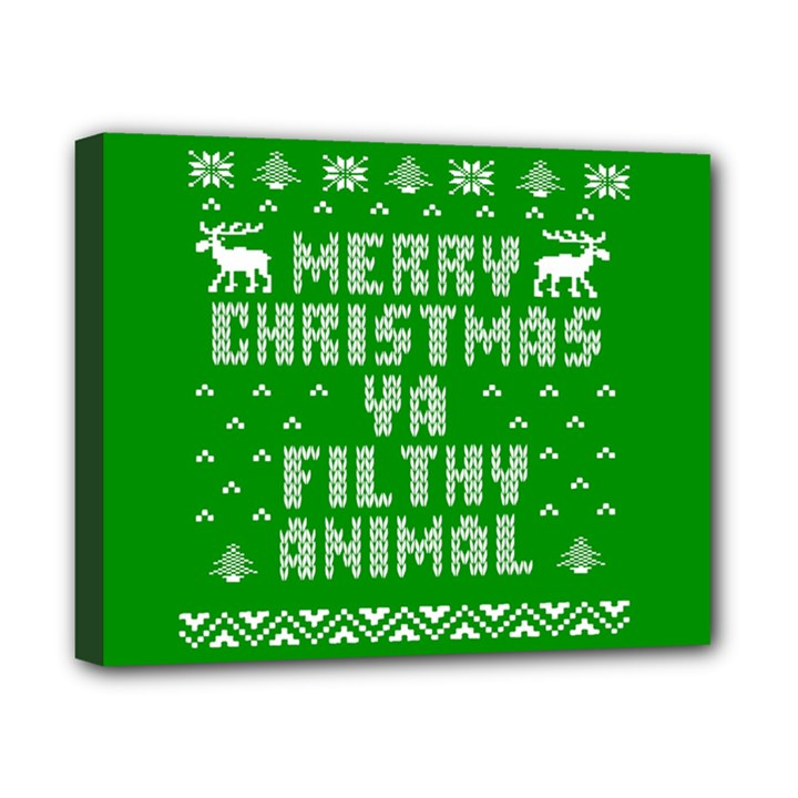 Ugly Christmas Ya Filthy Animal Canvas 10  x 8
