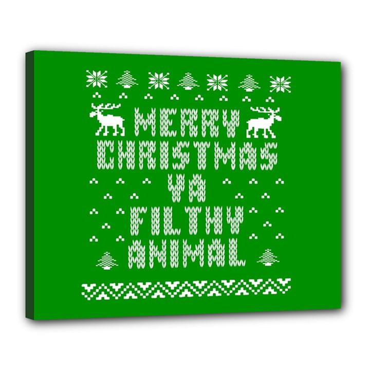 Ugly Christmas Ya Filthy Animal Canvas 20  x 16