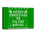 Ugly Christmas Ya Filthy Animal Canvas 18  x 12  View1