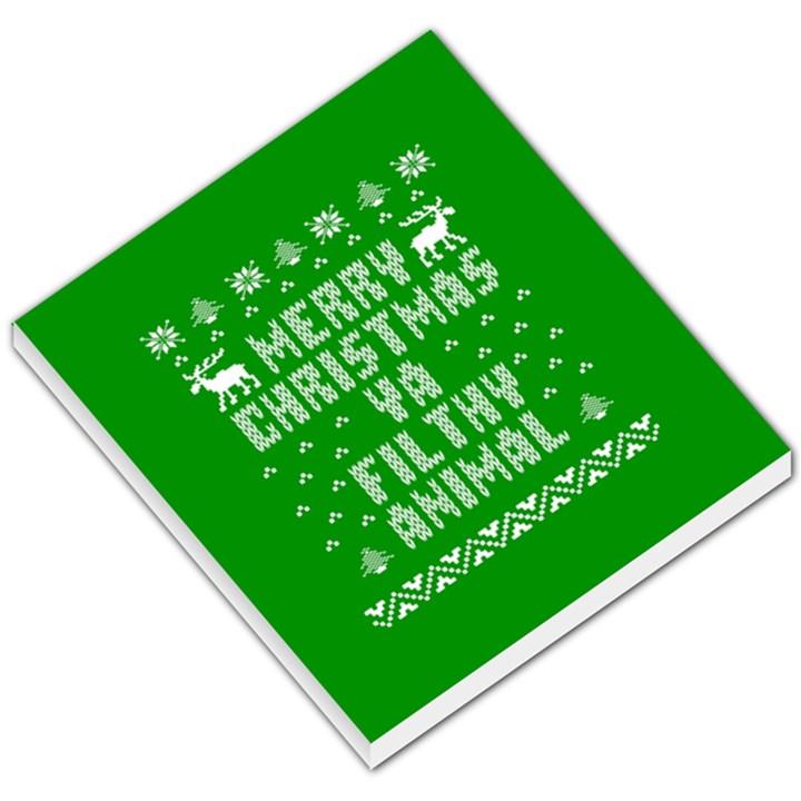 Ugly Christmas Ya Filthy Animal Small Memo Pads