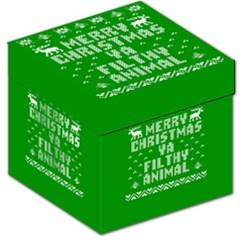 Ugly Christmas Ya Filthy Animal Storage Stool 12