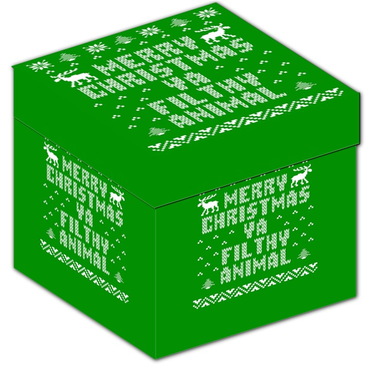 Ugly Christmas Ya Filthy Animal Storage Stool 12