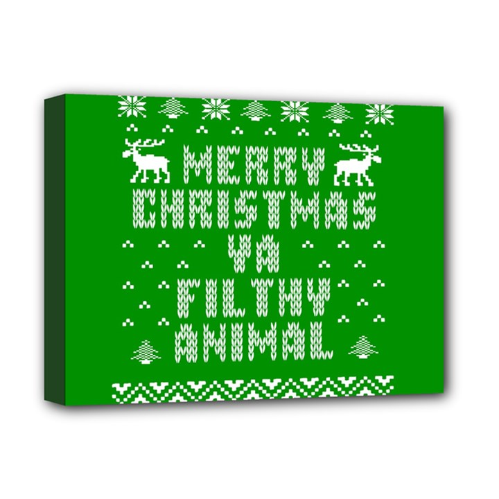 Ugly Christmas Ya Filthy Animal Deluxe Canvas 16  x 12