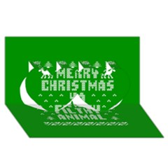 Ugly Christmas Ya Filthy Animal Twin Hearts 3d Greeting Card (8x4)