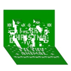Ugly Christmas Ya Filthy Animal LOVE 3D Greeting Card (7x5)