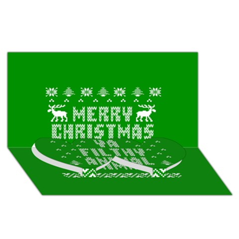 Ugly Christmas Ya Filthy Animal Twin Heart Bottom 3D Greeting Card (8x4)