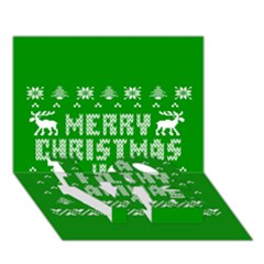 Ugly Christmas Ya Filthy Animal LOVE Bottom 3D Greeting Card (7x5)