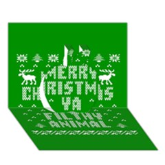 Ugly Christmas Ya Filthy Animal Apple 3D Greeting Card (7x5)