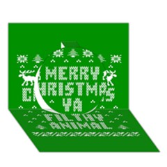 Ugly Christmas Ya Filthy Animal Circle 3D Greeting Card (7x5)